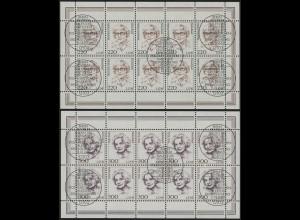 2158-2159 Frauen 220/300 Pf - 10er-Bogen-Satz gemischt ** / ESSt Berlin