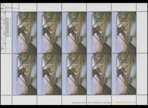 2171 Wuppertaler Schwebebahn - 10er-Bogen, 1. Auflage ohne Randzudruck, **