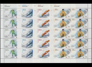 2237-2240 Olympia Winterspiele Salt Lake City - postfrischer 10er-Bogen-Satz **