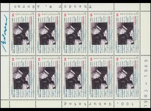 2361 Philosoph Theodor W. Adorno - 10er-Bogen ** postfrisch