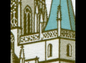 2381I SWK 5 Cent Erfurter Dom mit PLF I: Geländerbruch, Feld 9, Zehnerbogen **