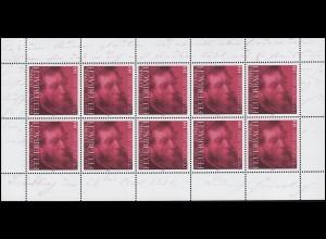 2411 Philosoph Ludwig Feuerbach - 10er-Bogen ** postfrisch