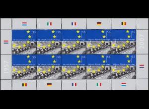 2593 Jubiläum 50 Jahre Römische Verträge - 10er-Bogen ** postfrisch