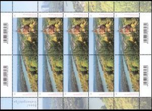 3510-3511 Panorama Bonn / Siebengebirge Zusammendruck - 10er-Bogen ** postfrisch