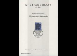 ETB 05/1975 Michelangelo, Bildhauer, Maler