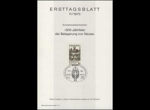 ETB 11/1975 Belagerung Neuss, Karl der Kühne