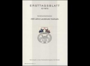 ETB 12/1975 Landshuter Fürstenhochzeit