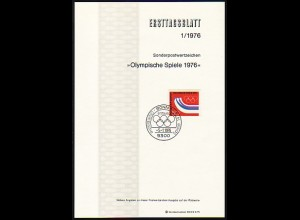 Ersttagsblätter ETB Bund Jahrgang 1976 Nr. 1 - 23 komplett