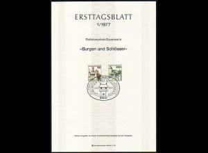 Ersttagsblätter ETB Bund Jahrgang 1977 Nr. 1 - 28 komplett