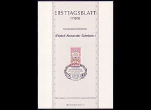 Ersttagsblätter ETB Bund Jahrgang 1978 Nr. 1 - 22 komplett