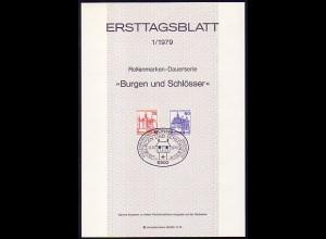 Ersttagsblätter ETB Bund Jahrgang 1979 Nr. 1 - 27 komplett
