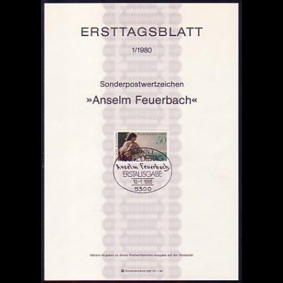 Ersttagsblätter ETB Bund Jahrgang 1980 Nr. 1 - 26 komplett