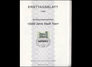 Ersttagsblätter ETB Bund Jahrgang 1984 Nr. 1 - 26 komplett