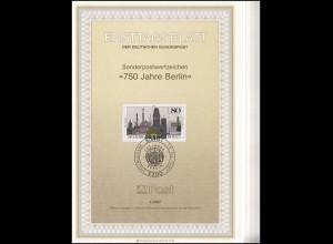 Ersttagsblätter ETB Bund Jahrgang 1987 Nr. 1 - 29 komplett