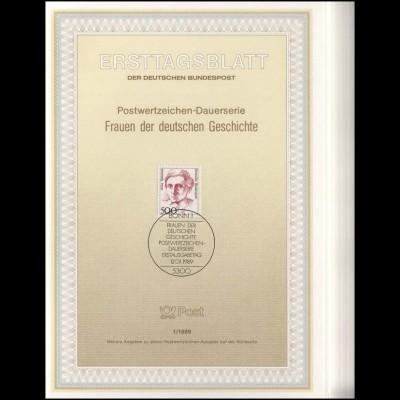 Ersttagsblätter ETB Bund Jahrgang 1989 Nr. 1 - 33 komplett