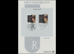 ETB 31/2006 Rembrandt Harmenszoon van Rjin, Maler - Gemeinschaftsausgaben mit NL