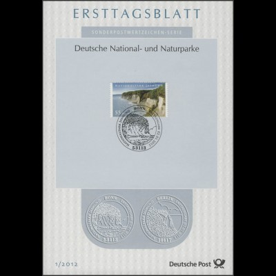 Ersttagsblätter ETB Bund Jahrgang 2012 Nr. 1 - 50 komplett