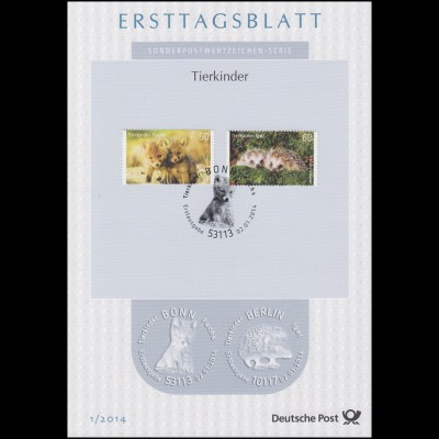 Ersttagsblätter ETB Bund Jahrgang 2014 Nr. 1 - 47 komplett