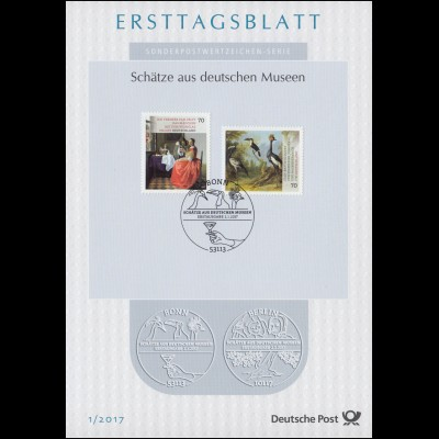 Ersttagsblätter ETB Bund Jahrgang 2017 Nr. 1-47 komplett