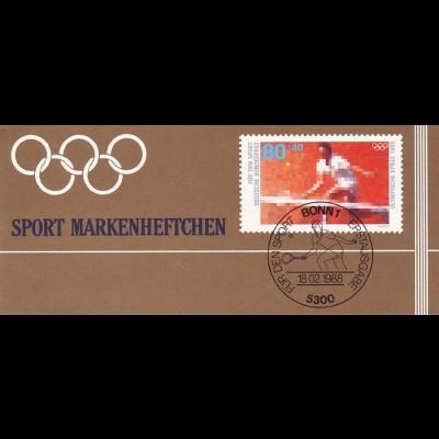 Sport 1988 Tennis 80 Pf, 6x1354, postfrisch