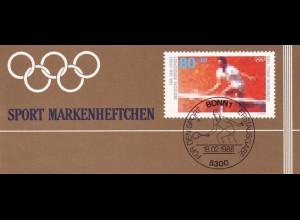 Sport 1988 Tennis 80 Pf, 6x1354, ESSt Bonn