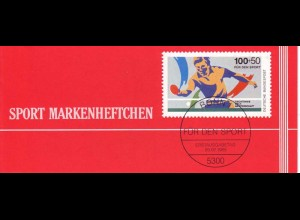 Sport 1989 Tischtennis 100 Pf, 6x1408, postfrisch