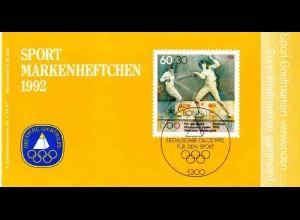 Sport 1992 Fechten - Damen-Florett 60 Pf, 6x1592, ESSt Bonn