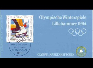 Sport 1994 Olympia - Eiskunstlaufen 80 Pf, 6x1717, postfrisch **