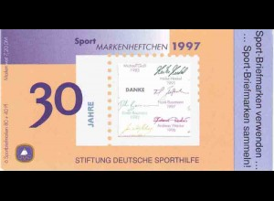 Sport 1997 Fun-Sport Aerobic 80 Pf, 6x1898, postfrisch