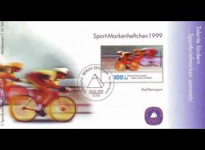 Sport 1999 Radrennsport 100 Pf mit 5x2031 postfrisch **