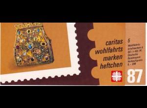Caritas/Wofa 1987 Gold- und Silberschmiedekunst 80 Pf, 5x1336, postfrisch