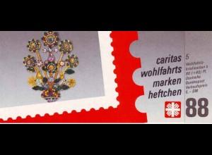 Caritas/Wofa 1988 Gold & Silber - Blütenstrauß 80 Pf, 5x1386, postfrisch