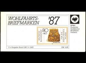 DPWV/Wofa 1987 Gold & Silber Bursenreliquiar 80 Pf, 5x1336, postfrisch