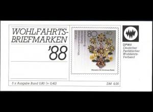 DPWV/Wofa 1988 Gold & Silber - Blütenstrauß 80 Pf, 5x1386, postfrisch
