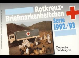 DRK/Wofa 1992/93 Figurenuhr 100 Pf, 5x1634, ET-O Frankenberg/Eder 15.10.92