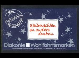 Diakonie/Weihnachten 1986 Anbetung des Kindes 80 Pf, 5x1303, postfrisch