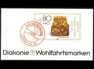 Diakonie/Wofa 1987 Gold & Silber Bursenreliquiar 80 Pf, 5x1336, postfrisch