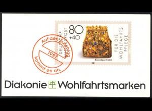 Diakonie/Wofa 1987 Gold & Silber Bursenreliquiar 80 Pf, 5x1336, ESSt Bonn