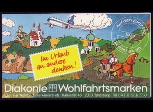 Diakonie/Wofa Rendsburg 1987 Urlaubsgrüße Flügelglas 60 Pf, 5x1334, **