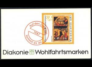 Diakonie/Weihnachten 1987 Geburt Christ 80 Pf, 5x1346, postfrisch