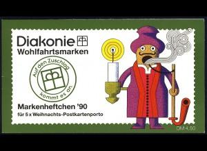 Diakonie/Weihnachten 1990 60 Pf. Räuchermännchen, 5x1485, postfrisch