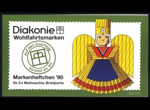 Diakonie/Weihnachten 1990 100 Pf. Rauschgoldengel, 5x1487, postfrisch