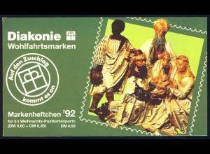 Diakonie/Weihnachten 1992 60 Pf, 5x1639, postfrisch