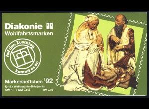 Diakonie/Weihnachten 1992 100 Pf, 5x1640, postfrisch