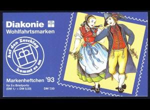 Diakonie/Wohlfahrt 1993 100 Pf. Oberndorf, 5x1699, postfrisch