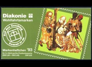 Diakonie/Weihnachten 1993 80 Pf, 5x1707, postfrisch