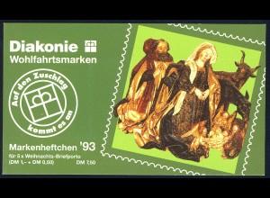 Diakonie/Weihnachten 1993 100 Pf, 5x1708 postfrisch