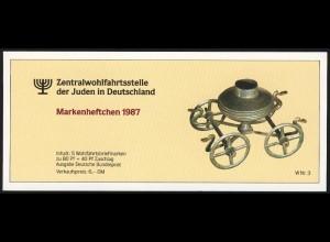 ZWStJ/Wofa 1987 Gold & Silber - Bursenreliquiar 80 Pf, 5x1336, ESSt Bonn