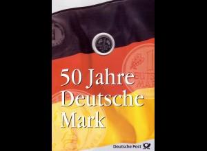 Numis-Gedenkblatt 50 Jahre Deutsche Mark 1998 mit 1-DM-Kursmünze