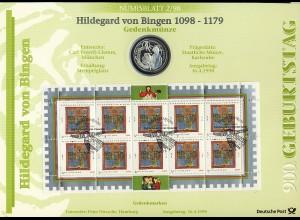 1981 Hildegard von Bingen - Numisblatt 2/98